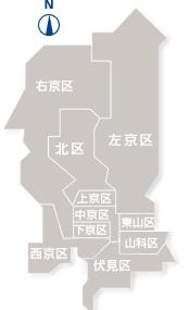 京都ビアガーデン・ビアホール特集 京都の地図